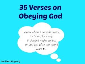 versesobeying