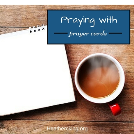 Praying with prayer cards
