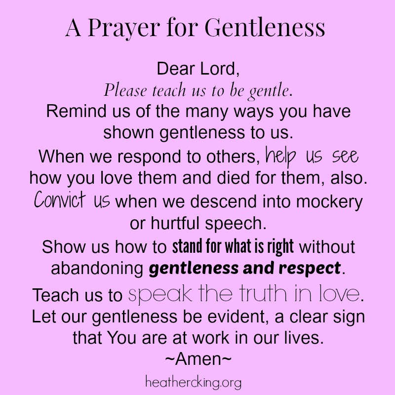 20 Bible Verses and a Prayer about Gentleness – Heather C. King ...