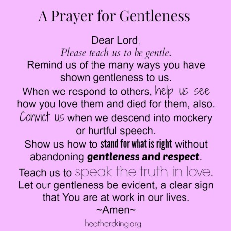 prayergentleness