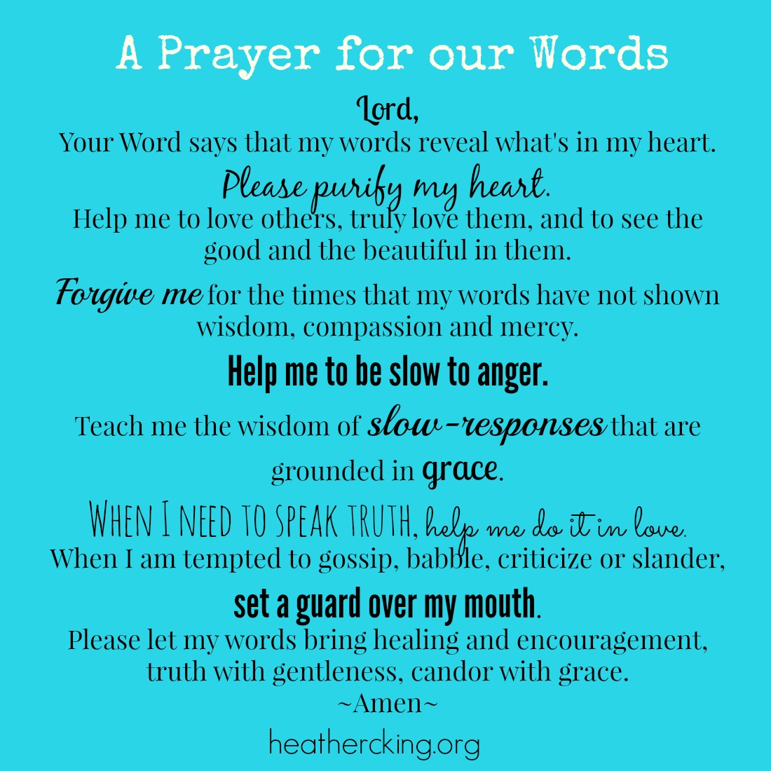 Bible Verses and a Prayer about Words and the Power of the Tongue