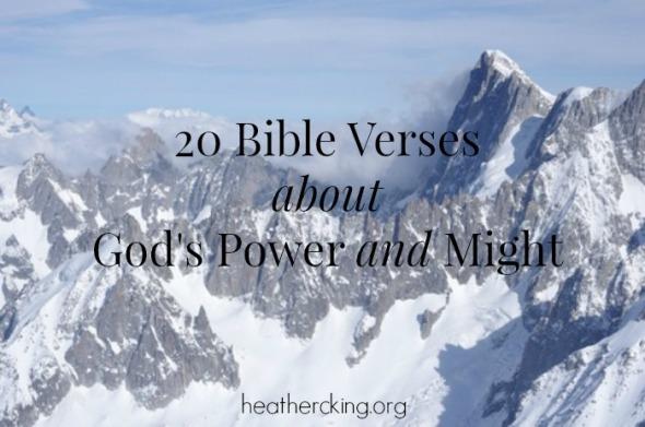 God Power Verses 20 Bible Verses About God's