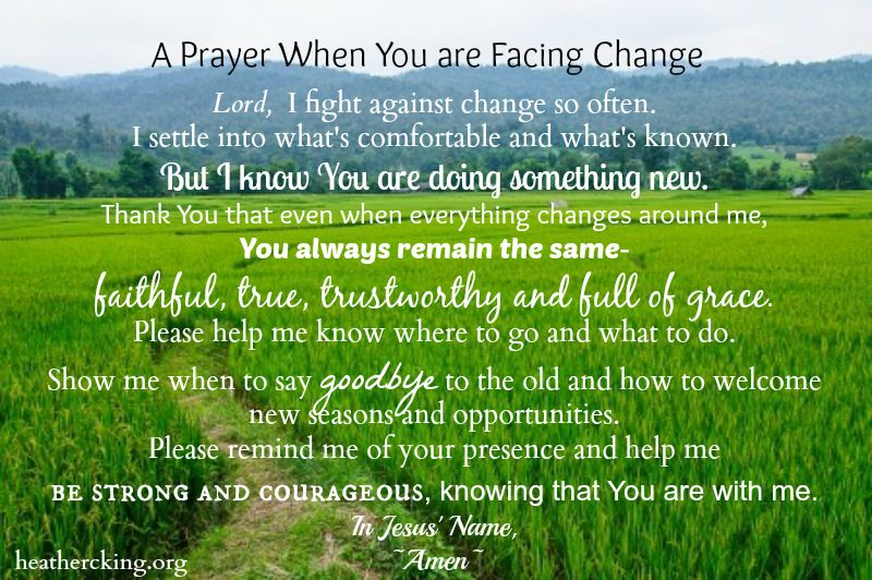 20 Bible Verses And A Prayer About Handling Change Heather C King