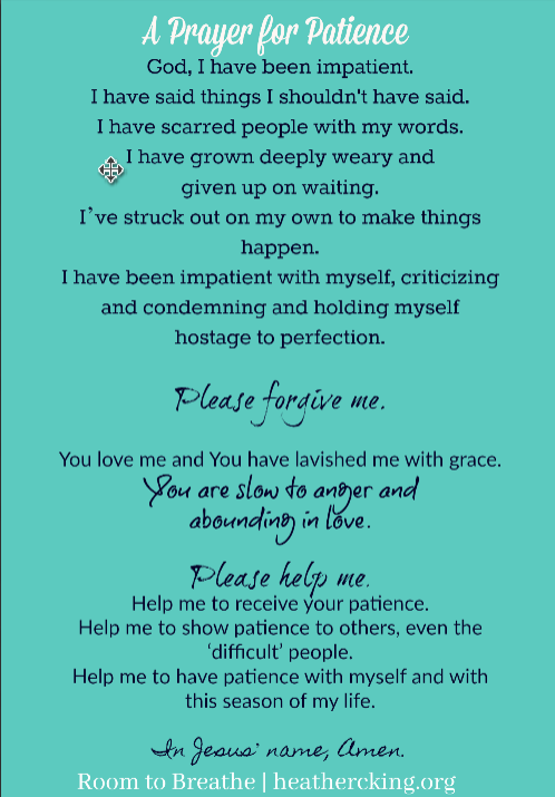 20 Bible Verses And A Prayer On Patience Heather C King Room To