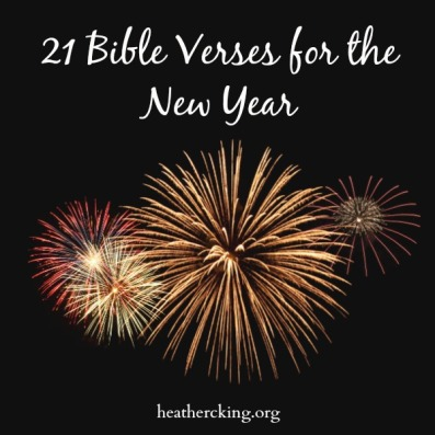Bible Verses and a Prayer for the New Year – Heather C. King – Room ...