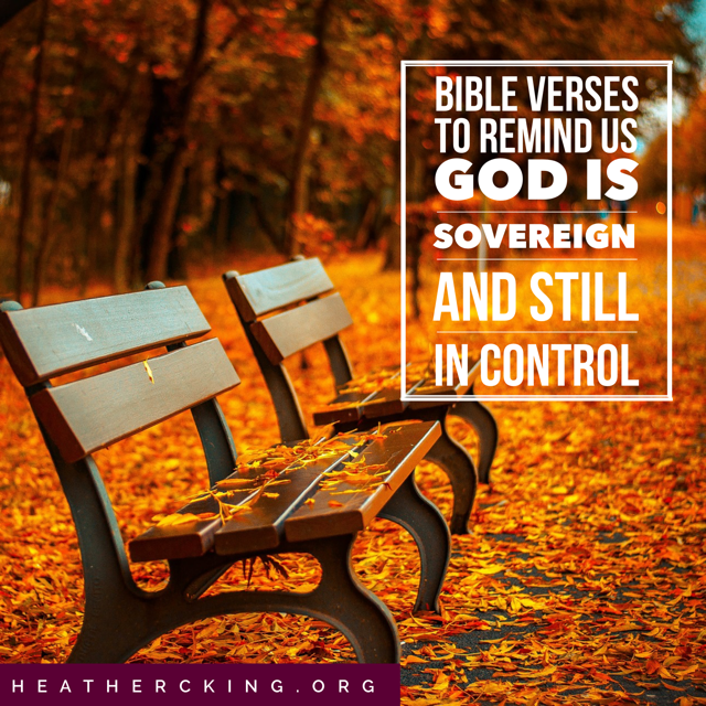 bible verses to remind us that god is sovereign and in