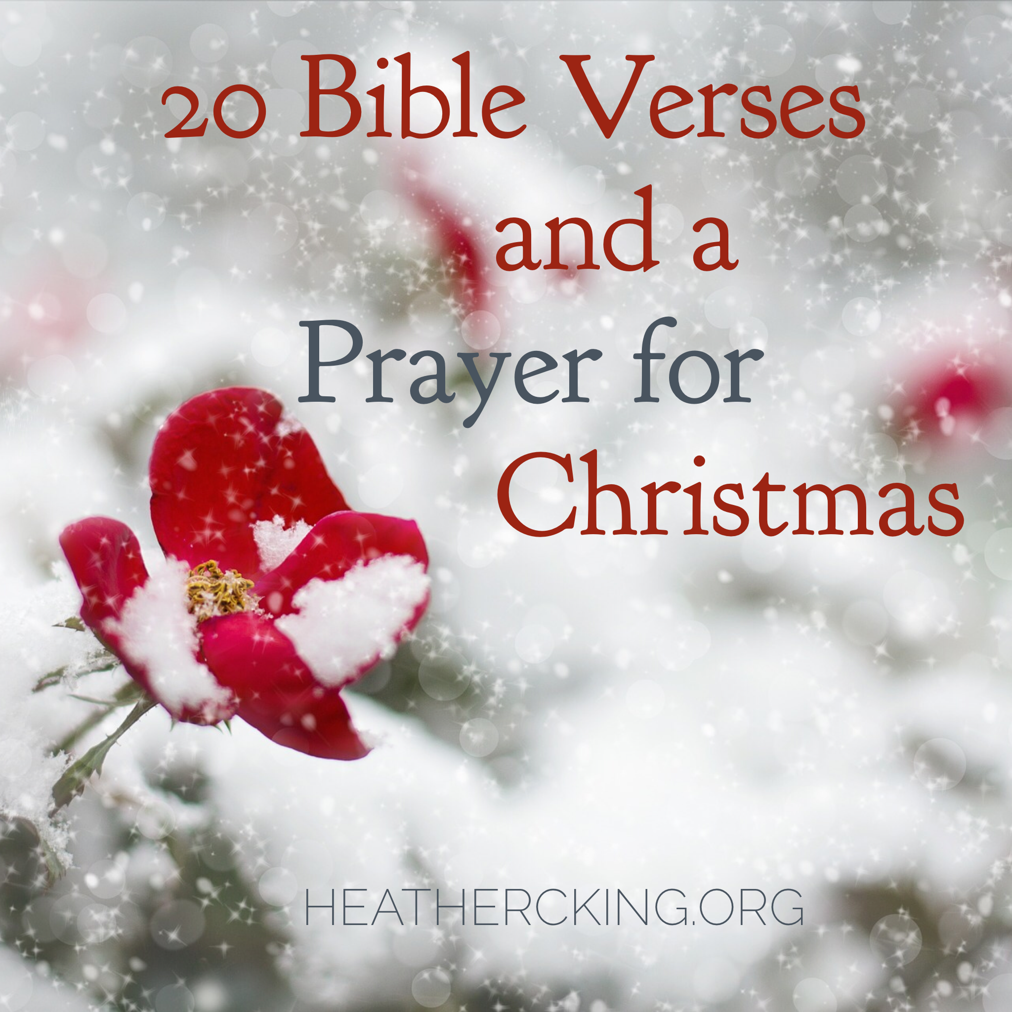 Christmas Bible Verses and a Prayer – Heather C. King – Room to Breathe